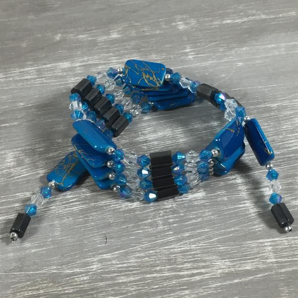 Magnetkette Magnetarmband BLAU (02) Halskette Kette Fußkette Magnet