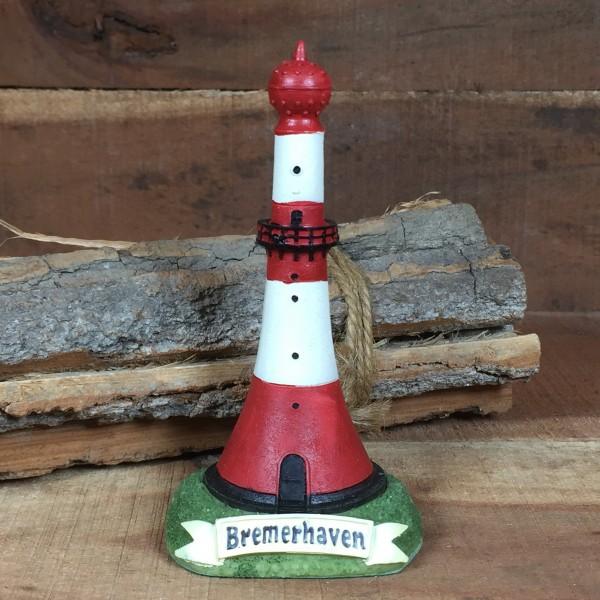 Deko Modell Leuchtturm Bremerhaven Unterfeuer 11cm