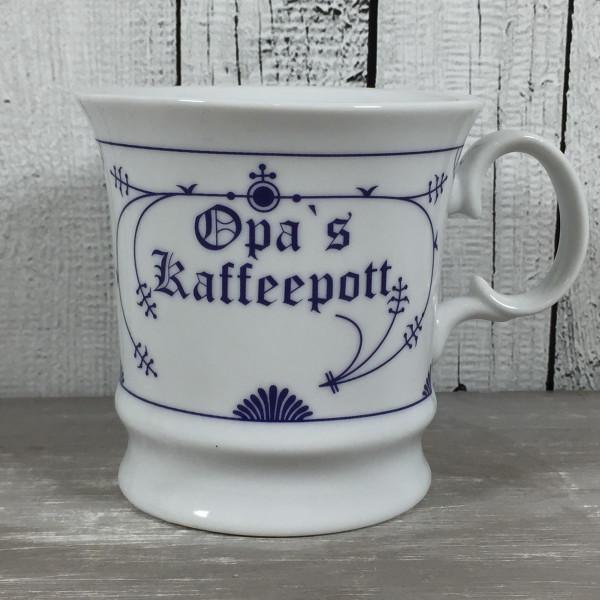 Indisch Blau Herrenbecher OPAS KAFFEEPOTT Kaffeebecher Tasse Becher maritim