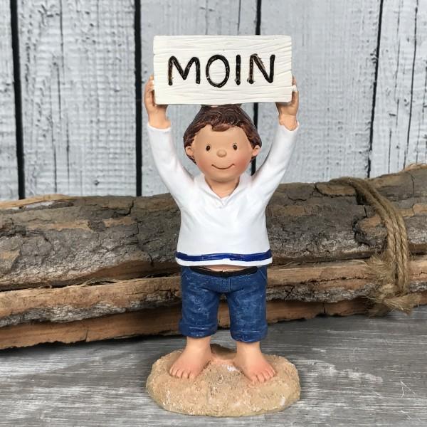 Deko Figur Küstenkind Junge MOIN 12cm maritime Dekoration Matrose Kinder
