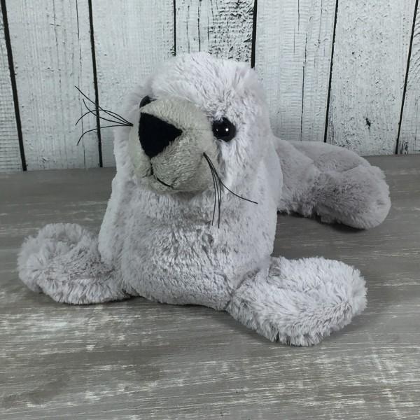 Plüsch Seehund grau 25 cm Kuscheltier Plüschtier Robbe