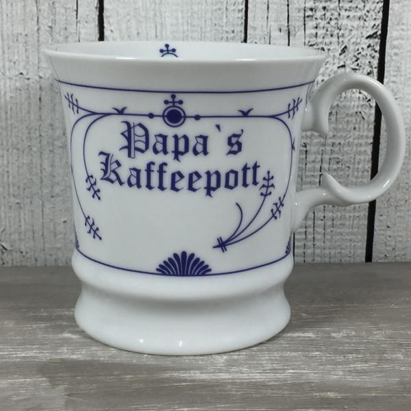 Indisch Blau Herrenbecher PAPAS KAFFEEPOTT Tasse Becher Kaffeebecher maritim