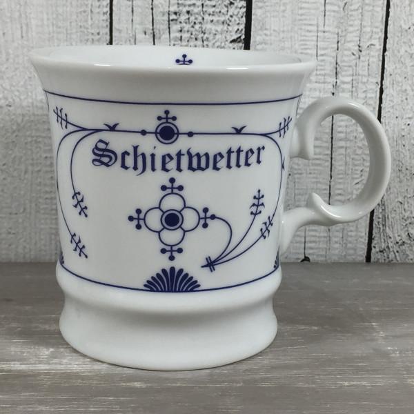 Herrenbecher Indisch Blau SCHIETWETTER Kapitänsbecher Tasse Kaffeebecher maritim