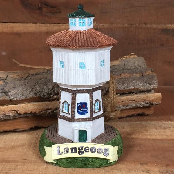 Deko Modell Wasserturm Langeoog ca. 12 cm Leuchtturm
