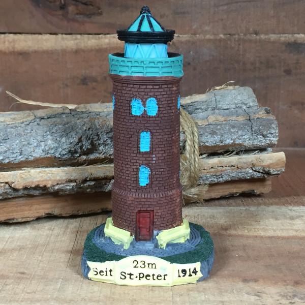 Deko Modell Leuchtturm St. Peter 10 cm