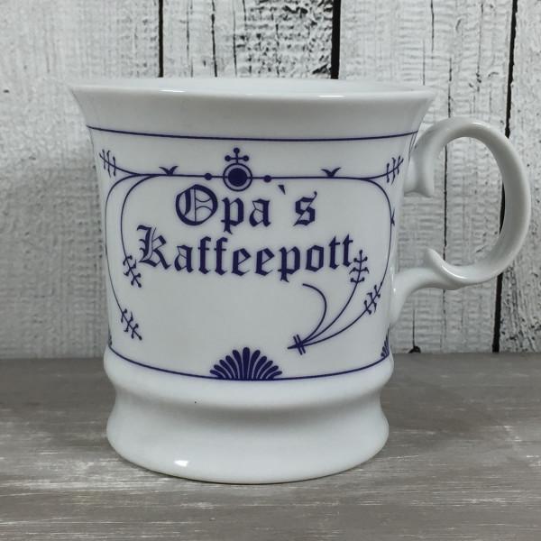 Herrenbecher Indisch Blau OPAS KAFFEEPOTT Kaffeebecher Tasse Becher maritim