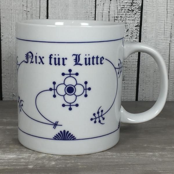 Großer XXL Becher Indisch Blau NIX FÜR LÜTTE Jumbotasse 500ml Kaffeebecher