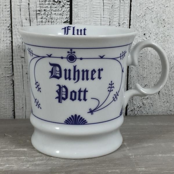 Indisch Blau Herrenbecher DUHNER POTT Ebbe & Flut Kaffeebecher Becher maritim