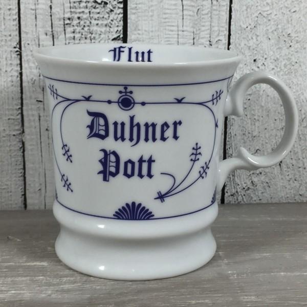 Herrenbecher Indisch Blau DUHNER POTT Ebbe & Flut Kaffeebecher Becher maritim