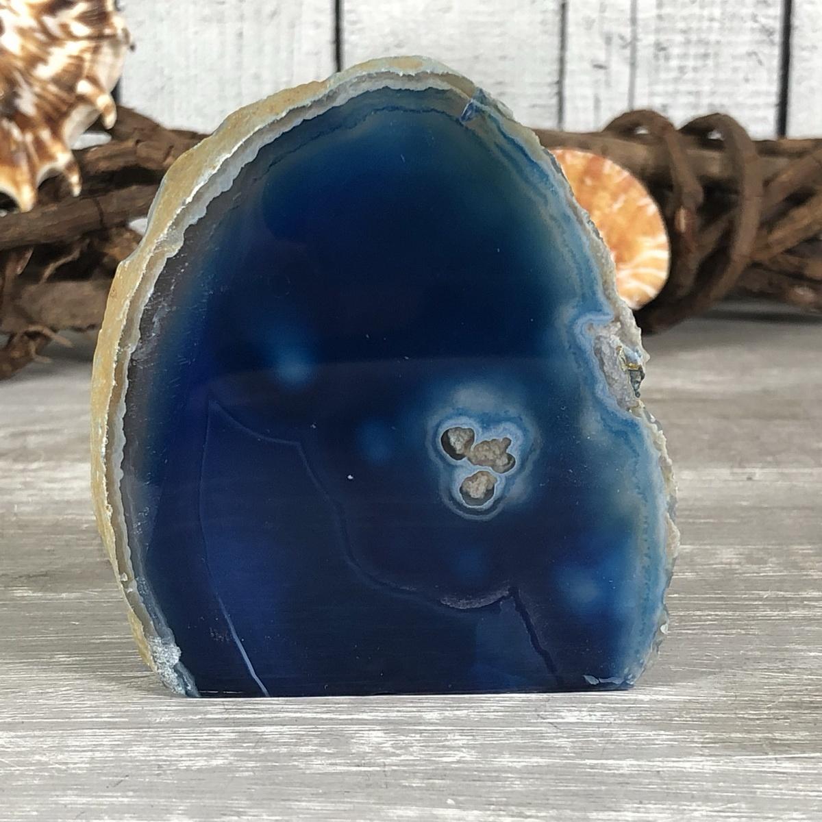 Qualität Stufe poliert Geode 15 XL Achat Natur Druse schwarz Ø 91 mm AA